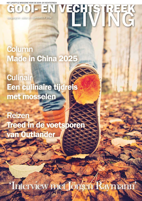 Cover Gooi- en Vechtstreek Living editie 15 - september 2018