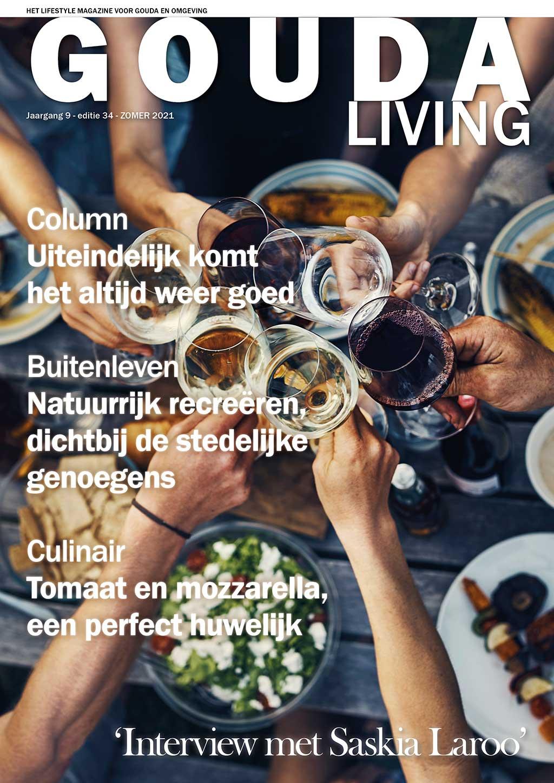 Cover Gouda Living editie 34 - zomer 2021